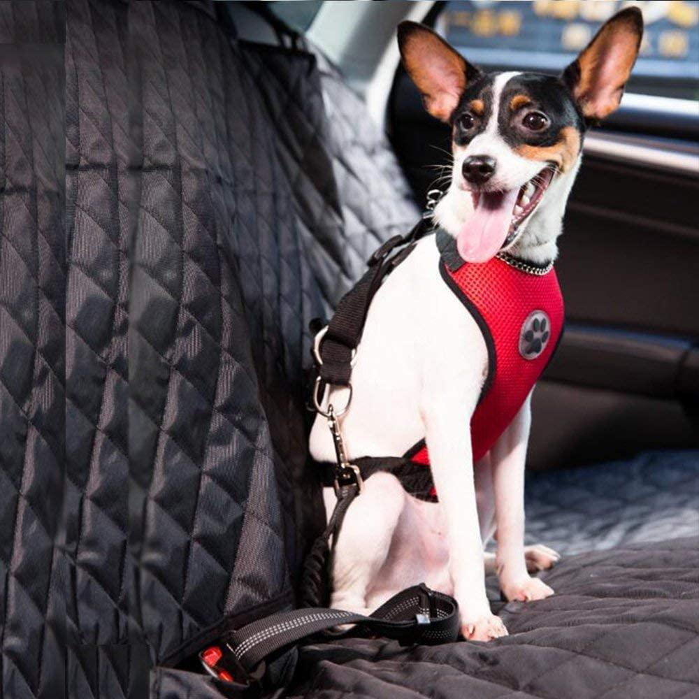 SlowTon Dog Car Harness Plus Connector Strap