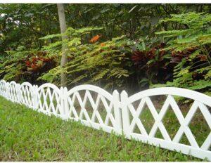 Worth Garden Plastic Fence Pickets Indoor Outdoor