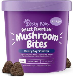 Zesty Paws Organic Mushroom Chewable Treats for Dogs