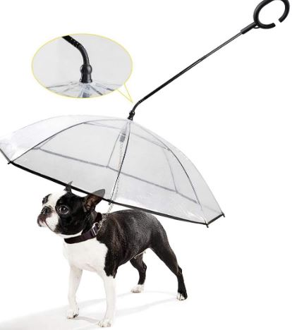 K&L Pet Dog Leash Umbrella Adjustable Rainproof
