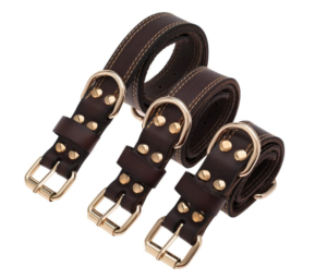 TREVANO GENUINE LEATHER DOG COLLAR