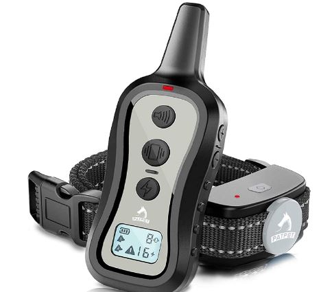 PATPET Dog Training Collar- Dog Shock Collar with Remote, w/3 Training Modes, Beep, Vibration and Shock, Up to 1000 ft Remote Range, Rainproof for Small...
