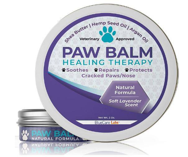 BLUECARE LABS Paw Soother Heals Dry, Cracked Irritated Dog Paw Pads - Organic Natural Ingredients Paw Protection Against Heat & Snow Repairs...