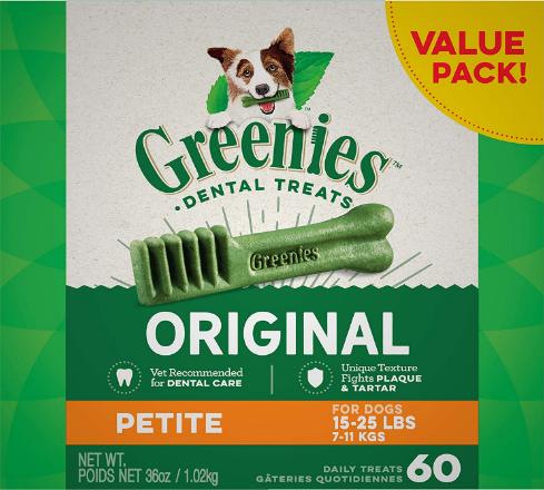 Greenies Original Petite Natural Dental Dogs Treat